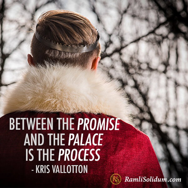 between the promise and the palace, there is the process. - Ramli Solidum